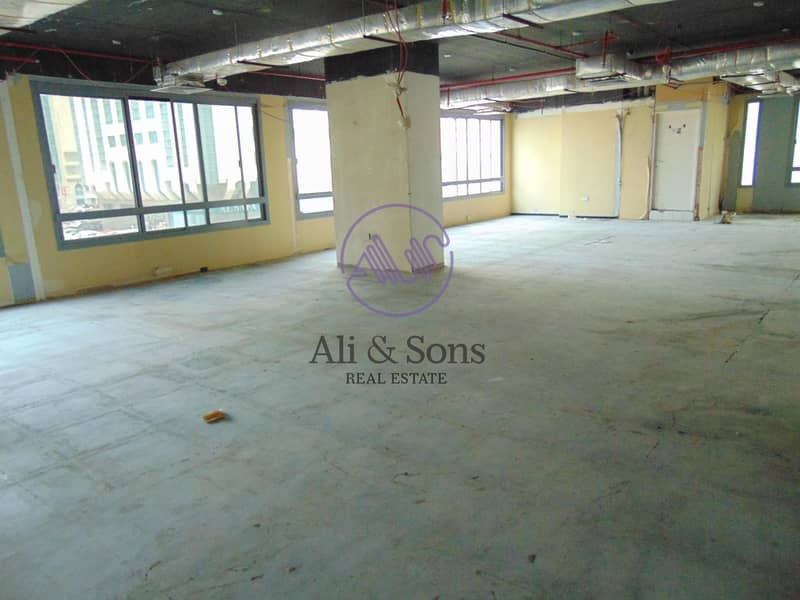 10 Huge Shell and core mezzanine full floor in Najda