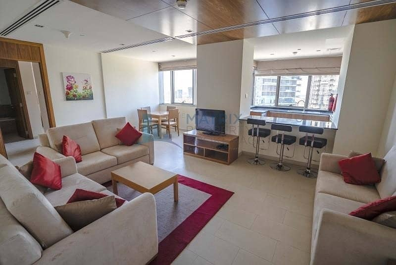 1 NEGOTIABLE/FULLY FURNISHED 1BR/AED 57K/12CHEQUES