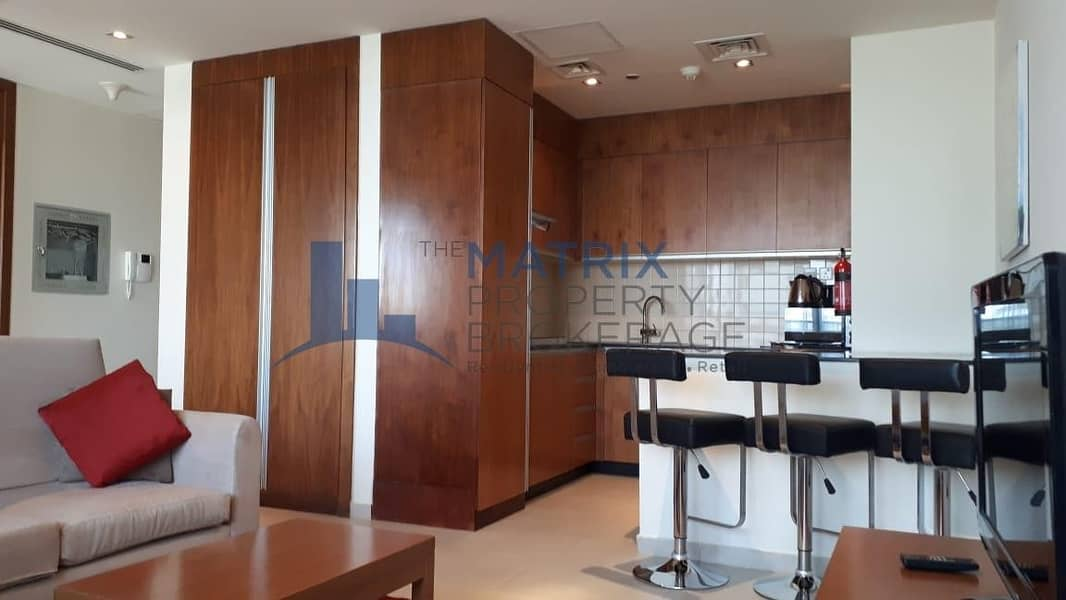 furnished 1BR apartment facing canal. Dubai Sport City