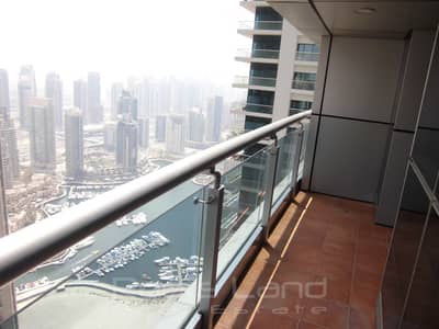 1 Bedroom Apartment for Rent in Dubai Marina, Dubai - High Floor 1 Bedroom With Partial Marina View