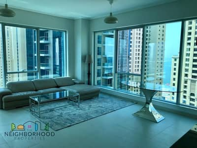 1 Bedroom Apartment for Rent in Dubai Marina, Dubai - Semi Furnished|1 bed|Amazing Sea View