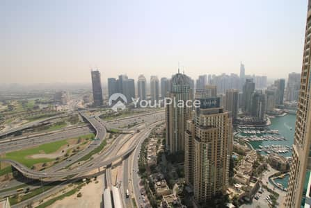 2 Bedroom Apartment for Rent in Dubai Marina, Dubai - Full Golf Course View -  High Floor - Unfurnished