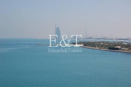فلیٹ 2 غرفة نوم للايجار في نخلة جميرا، دبي - 2 BR | Unfurnished | D type | Sea view | PJ