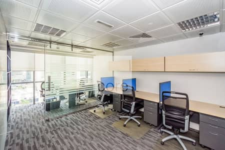 Office for Rent in Jumeirah Lake Towers (JLT), Dubai - Combined Fitted Office I Low Floor | DMCC