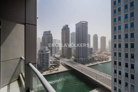 فلیٹ 2 غرفة نوم للايجار في دبي مارينا، دبي - Plus Maid's|Marina View|Vacant|High Floor