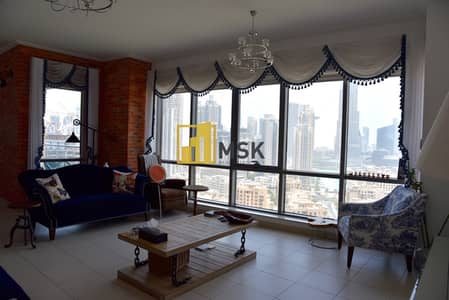 3 Bedroom Flat for Rent in Downtown Dubai, Dubai - High floor with great view of downtown