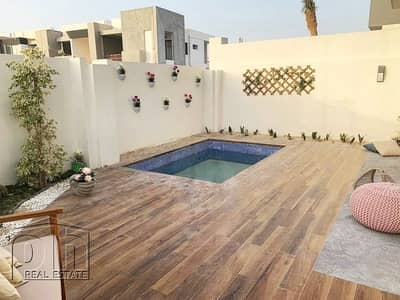 3 Bedroom Townhouse for Sale in Wasl Gate, Dubai - Single row private garden short walk to metro