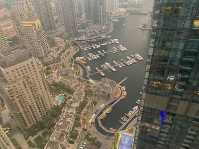 3 Bedroom Apartment for Rent in Dubai Marina, Dubai - 3bed PARTIALLY FURNISHED in Marina Heights @120k!