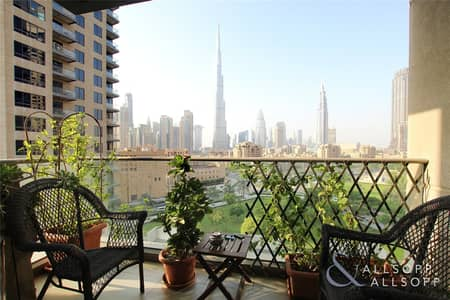 2 Bedroom Apartment for Sale in Downtown Dubai, Dubai - Burj Khalifa View | 2.5 Bath | 2 Bedroom