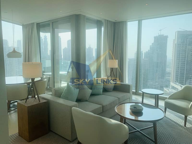 Full Panoramic View-High Floor 2 BR Apt for Rent