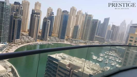3 Bedroom Apartment for Sale in Dubai Marina, Dubai - Motivated Seller - 3 Bedrooms + Maid in The Waves Tower A
