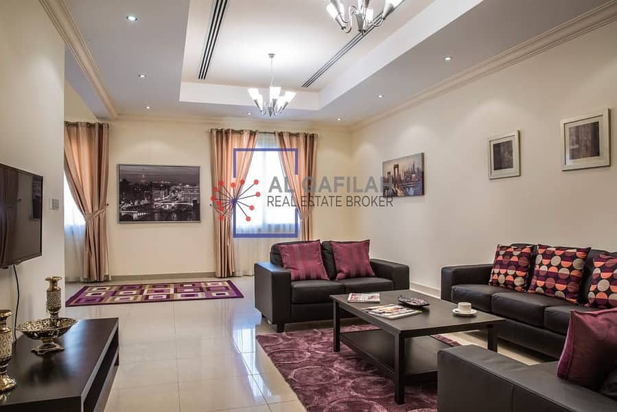 Bright and Spacious | Maid's room | Huge Living room |