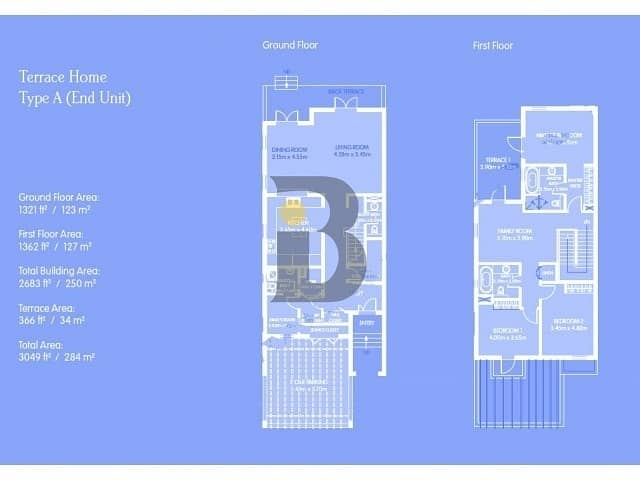 12 Lowest priced type B in Al Furjan | vacant