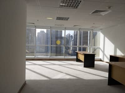 Office for Rent in Jumeirah Lake Towers (JLT), Dubai - Mid Floor Fitted office with Lake and Park View