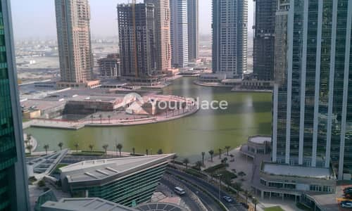 1 Bedroom Flat for Rent in Jumeirah Lake Towers (JLT), Dubai - Full Lake View - High Floor - Kitchen Equipped