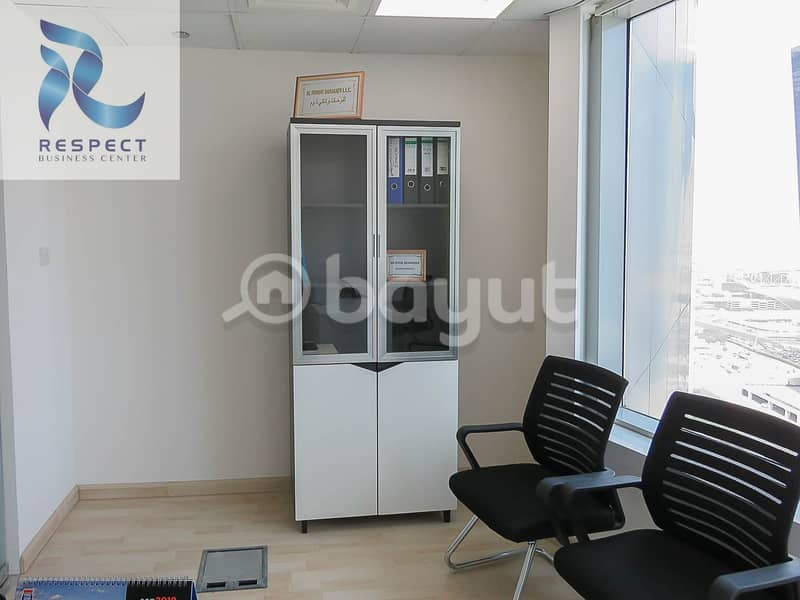 2 Near Metro! Have Your Own Office For Only 9000 AED