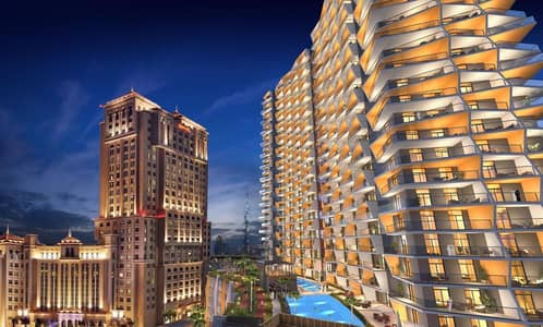1 Bedroom Apartment for Sale in Bur Dubai, Dubai - House in One- Bedrooms Apartment with Spectacular View in Binghatti Avenue at Al Jaddaf