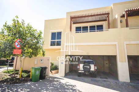 4 Bedroom Townhouse for Rent in Al Raha Gardens, Abu Dhabi - Dazzling 4BR TH with study room and private garden