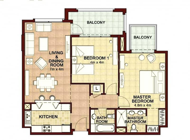 14 Ready to Move I Two balconies I Partually Golf View I