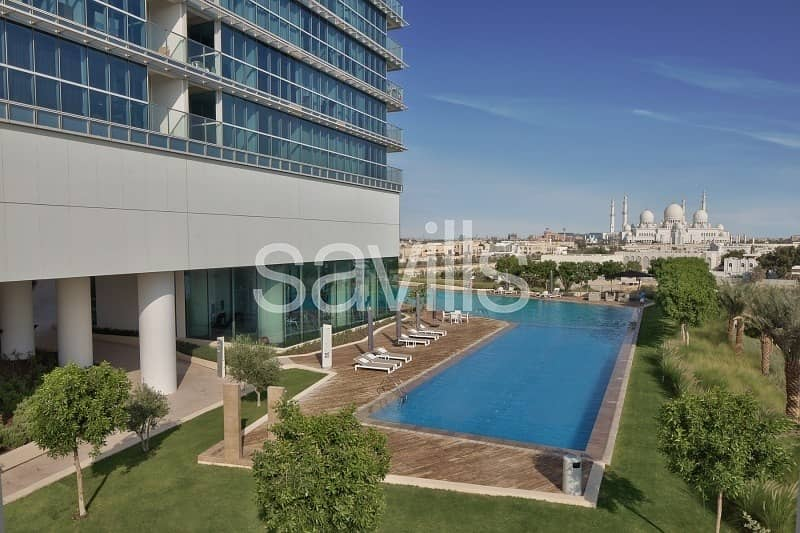 One bedroom Rihan Heights. Zayed Sports City.