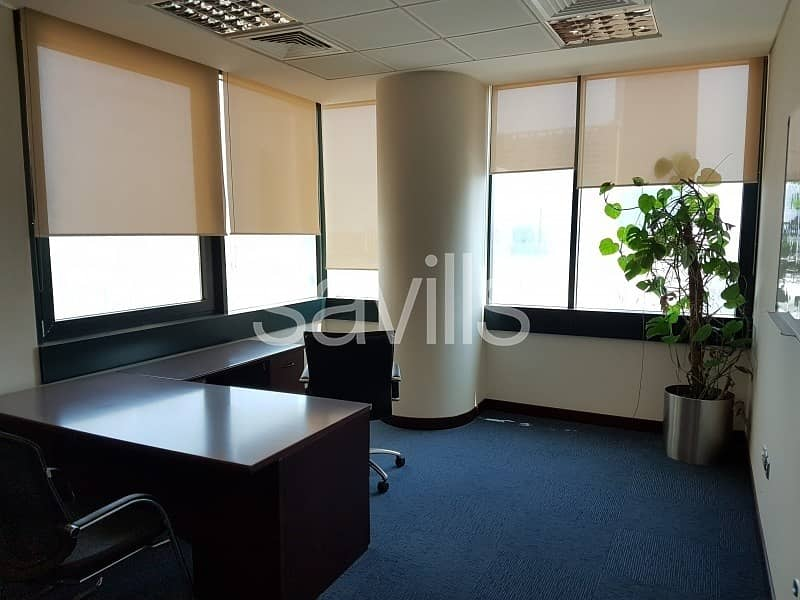Spacious fitted offices for lease in Al Nahyan Area