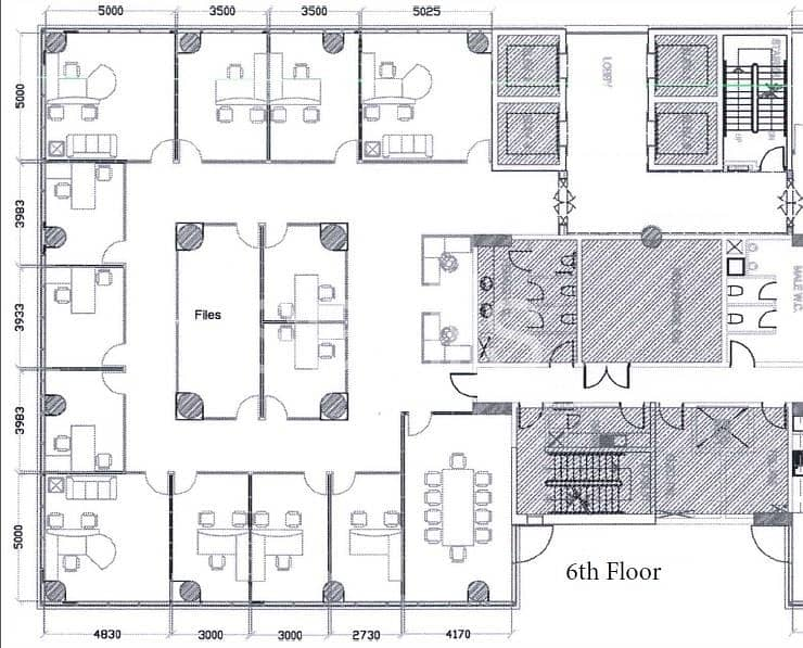 12 Spacious fitted offices for lease in Al Nahyan Area