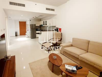 1 Bedroom Flat for Rent in Al Reem Island, Abu Dhabi - Furnished 1BR M with Sea View in Marina Bay Damac