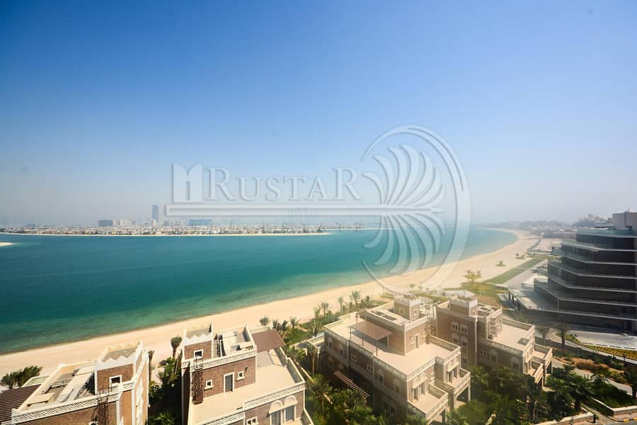 High Floor - Full Palm View 4B/R plus maid for rent