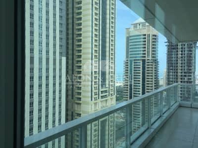 شقة 2 غرفة نوم للايجار في دبي مارينا، دبي - Low Floor Huge 2Bed 1750 Sqft Chiller Free MAG 218