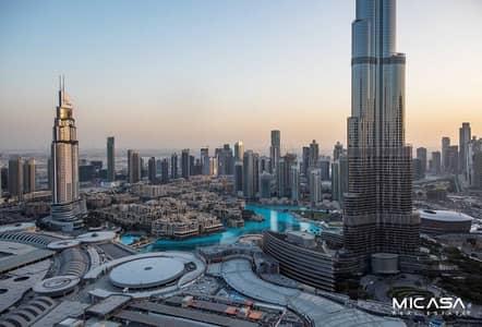 فلیٹ 2 غرفة نوم للبيع في وسط مدينة دبي، دبي - 2 BR with Full Burj and Fountain View/ High Floor