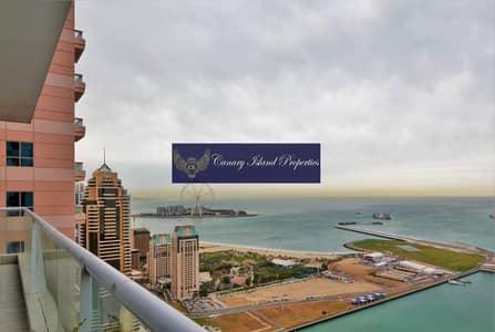 شقة 3 غرفة نوم للبيع في دبي مارينا، دبي - Full Sea View | Genuine Price | High floor