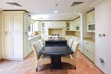 5 Bedroom Villa for Sale in Jumeirah Golf Estate, Dubai - Upgraded kitchen | Golf Course view | Big plot