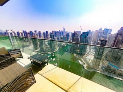 1 Bedroom Apartment for Rent in Dubai Marina, Dubai - Remarkable Furnished Apt.|High-Floor|Marina View