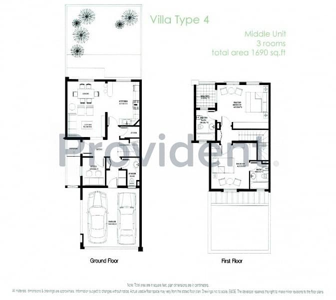 14 Opposite To Pool & Park|2 Bedrooms+Study