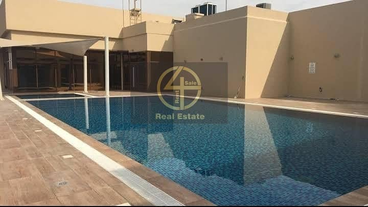 Luxury & modern 1BR + swimming pool In Mussafah