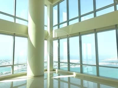 فلیٹ 2 غرفة نوم للايجار في منطقة الكورنيش، أبوظبي - Stunning Duplex Apartment|Sea Views|No Commission