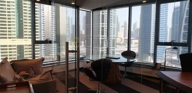 Office for Rent in Jumeirah Lake Towers (JLT), Dubai - Lake View | Fitted | Glass Cabins | Platinum Tower