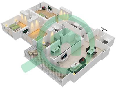 Bahwan tower - 3 Bedroom Apartment Unit 7 Floor plan
