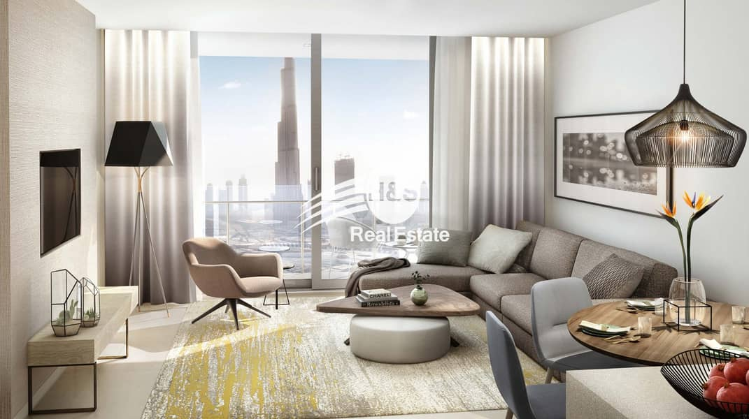 10 Most affordable 2 BR. Direct connection to Dubai Mall
