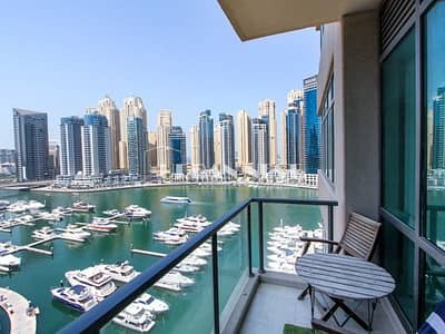 2 Bedroom Apartment for Sale in Dubai Marina, Dubai - Bright Well-Maintained Fully Furnished Marina View