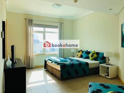 شقة 2 غرفة نوم للايجار في نخلة جميرا، دبي - Sea View Fully Furnished Apartment Beach Access