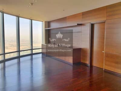 3 Bedroom Flat for Rent in Downtown Dubai, Dubai - HIGH FLOOR| UNFURNISHED 3BR APARTMENT