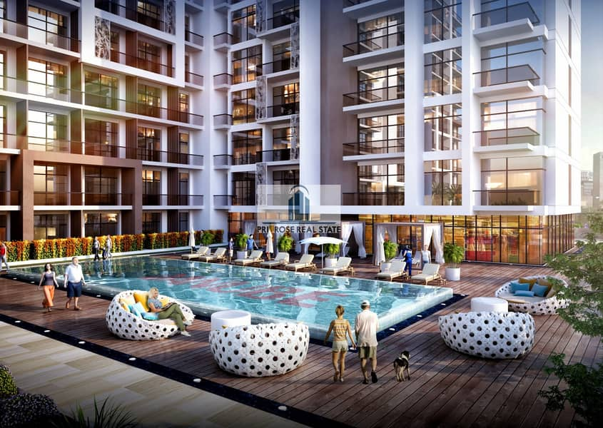 10 Beautiful Studio Pool View_Stunning Offer_1% p/m@3400Aed for 6 years