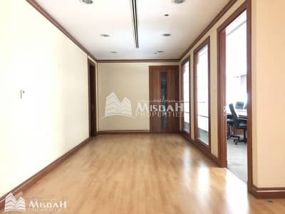 Office for Rent in Al Garhoud, Dubai - Fully Customized Fitted Office with partitions in a Chiller Free Building | Al Garhoud