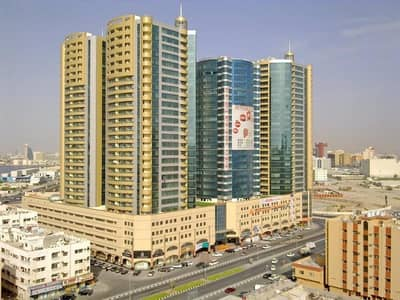 Studio for Rent in Ajman Downtown, Ajman - >BIGGEST STUDIO BEAUTIFUL WITH BIG BALCONY  WITH PARKING IN HORIZON TOWER ONLY ASIAN
