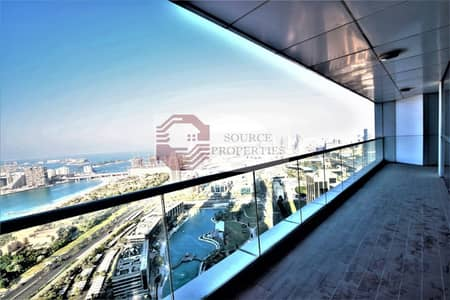 LUXURIOUS 3BED +MAID | SEA AND THE PALM VIEW| 5 BATHS|UNFURNISHED |HIGH FLOOR