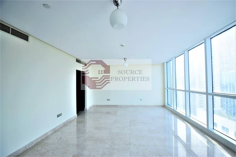 2 LUXURIOUS 3BED +MAID | SEA AND THE PALM VIEW| 5 BATHS|UNFURNISHED |HIGH FLOOR