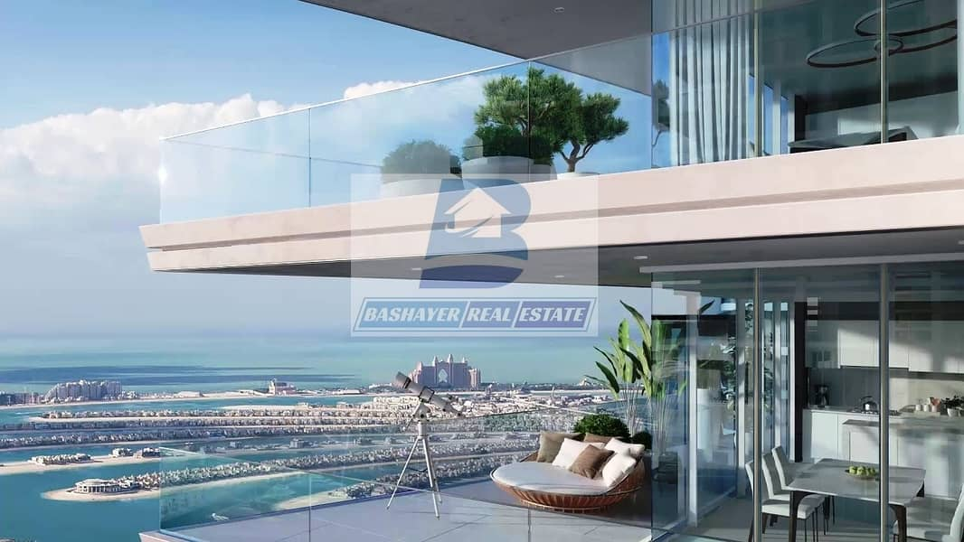 Beach Front Apartment - Private Beach - Full Sea View-  3 Years Post hand Over