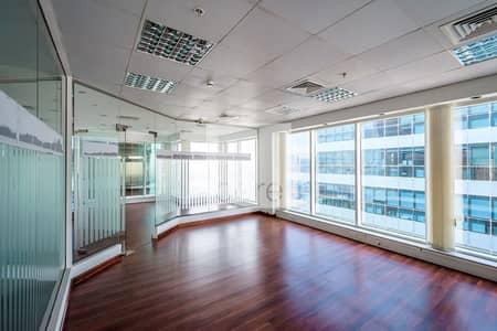 مکتب  للايجار في ديرة، دبي - On High Floor | Fitted Partitioned Office