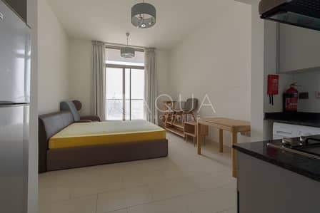 Studio for Rent in Al Furjan, Dubai - Fully Furnished | Pool View | Chiller Free